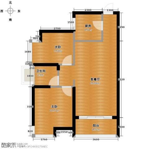 江湾国际2室2厅1卫0厨79.00㎡户型图