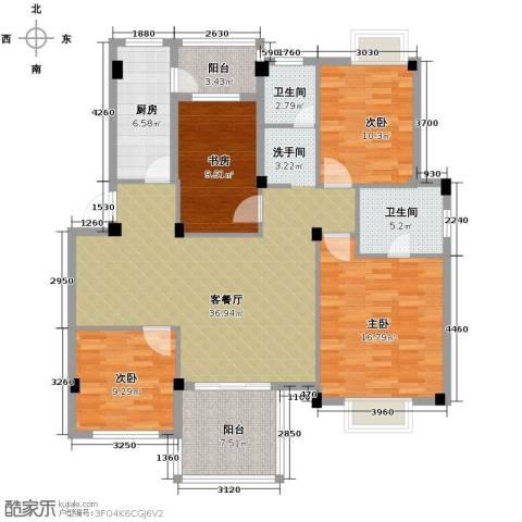 小骆花园4室1厅2卫1厨153.00㎡户型图