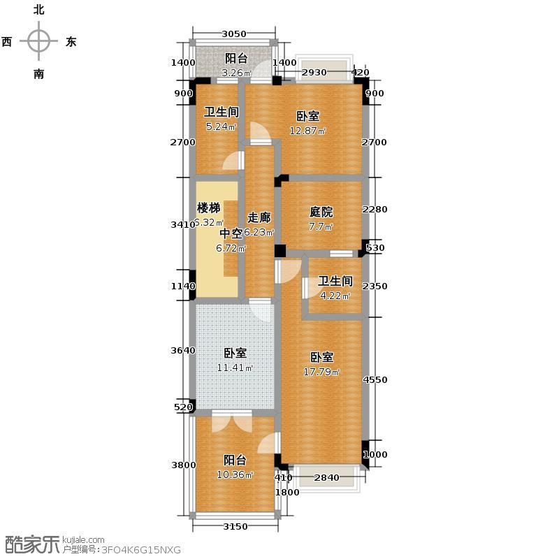 丰泰旗山绿洲101.53㎡户型3室2厅2卫