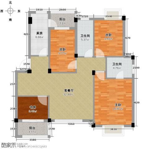 小骆花园4室0厅2卫1厨140.00㎡户型图