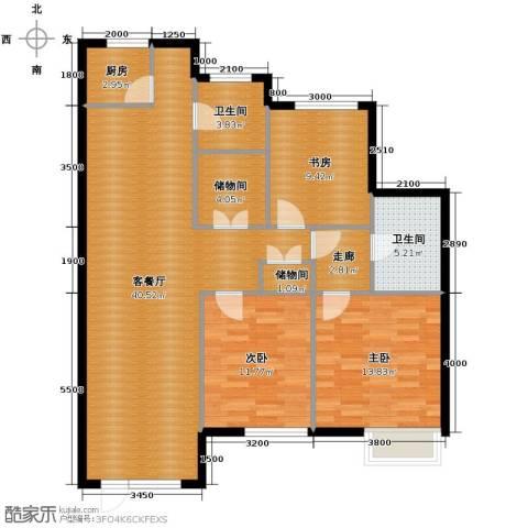 泰莱香榭里3室1厅2卫1厨124.00㎡户型图