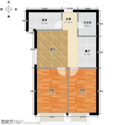天润广场2室2厅1卫0厨80.00㎡户型图