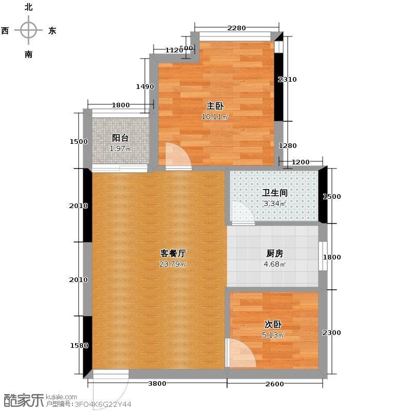 金莎雅苑50.08㎡户型2室1厅1卫
