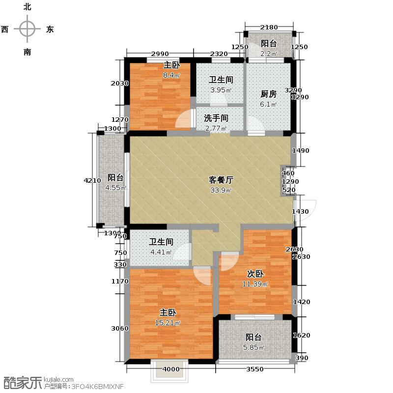 中电颐和家园118.00㎡C户型3室2厅2卫