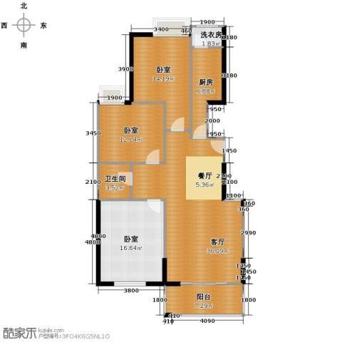鼎正中央领郡3室2厅1卫0厨115.00㎡户型图