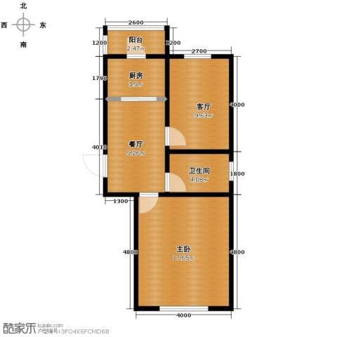 天伦中央广场2室1厅1卫0厨67.00㎡户型图