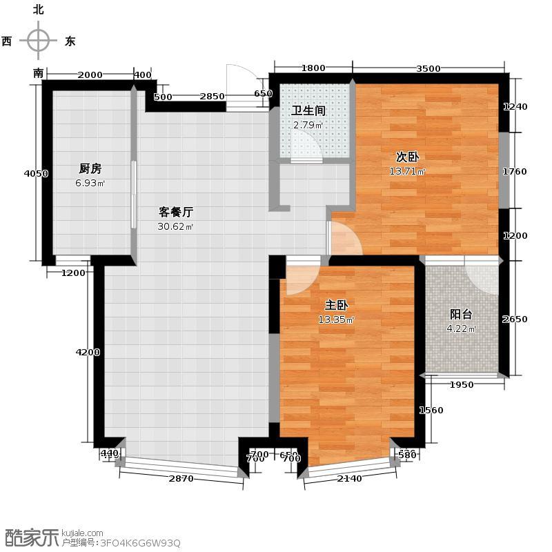 钓鱼台七号81.19㎡(已售完)户型2室1厅1卫1厨