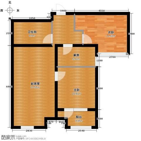 肯彤国际2室2厅1卫0厨87.00㎡户型图