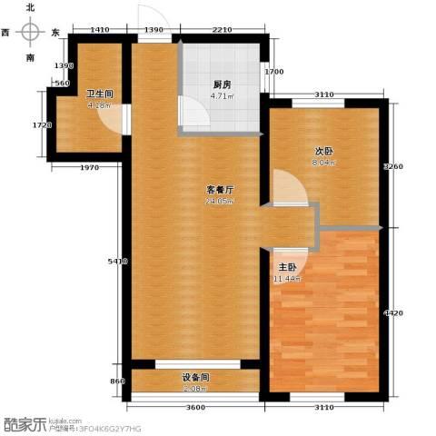 瑞家景峰2室2厅1卫0厨81.00㎡户型图