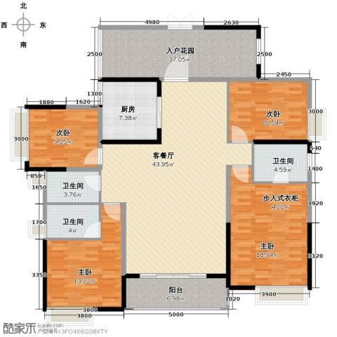 鼎峰花漫里4室2厅3卫0厨169.00㎡户型图