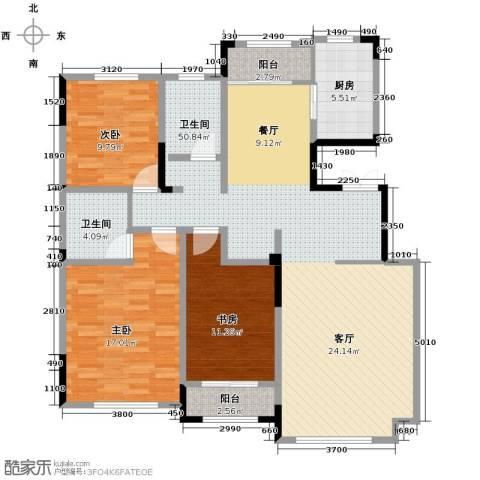 保利香槟3室2厅1卫0厨140.00㎡户型图
