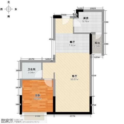 名汇嘉园1室1厅1卫1厨78.00㎡户型图