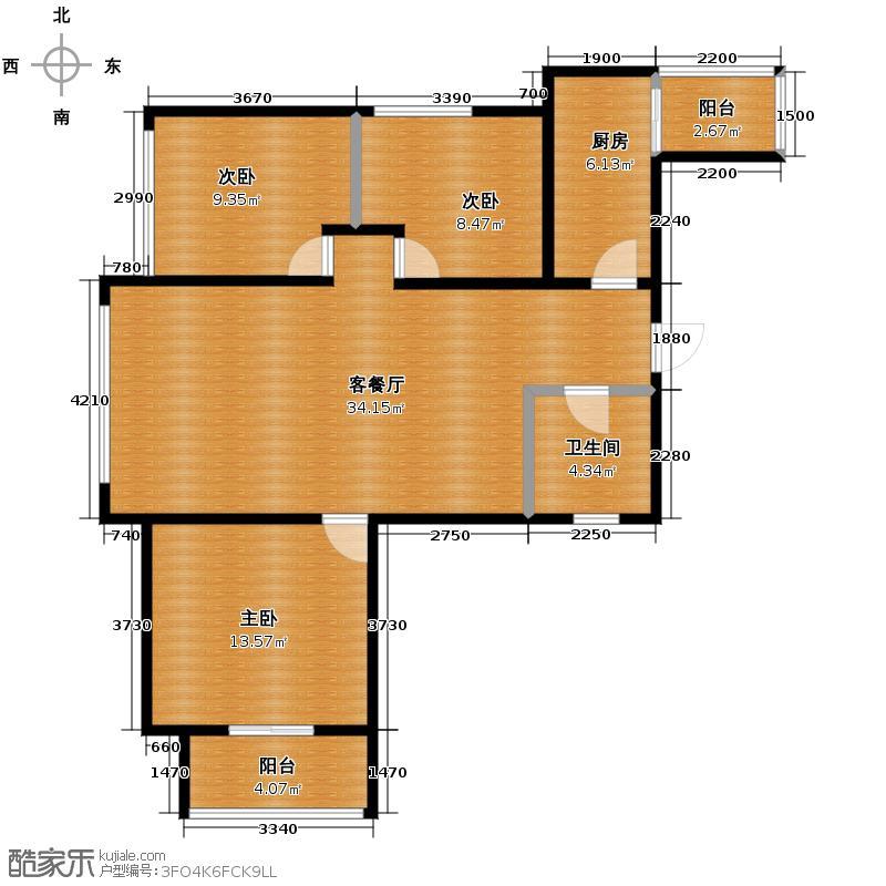 中兴和园112.00㎡4#6#1单元-01-C4三室户型3室1厅1卫1厨