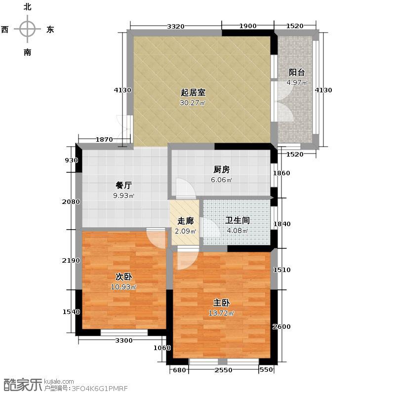 大华曲江公园世家79.60㎡早期已售罄户型10室