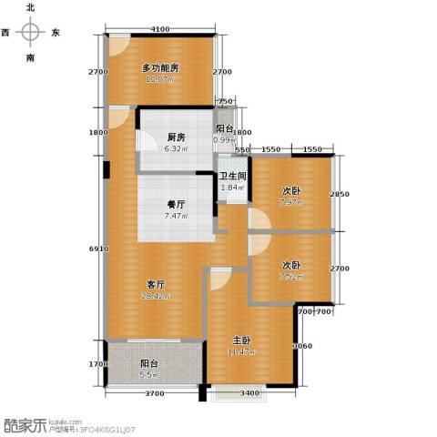 中熙松湖国际4室2厅1卫0厨89.00㎡户型图