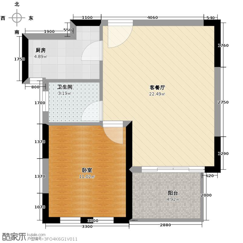 大华曲江公园世家52.60㎡早期已售罄户型10室