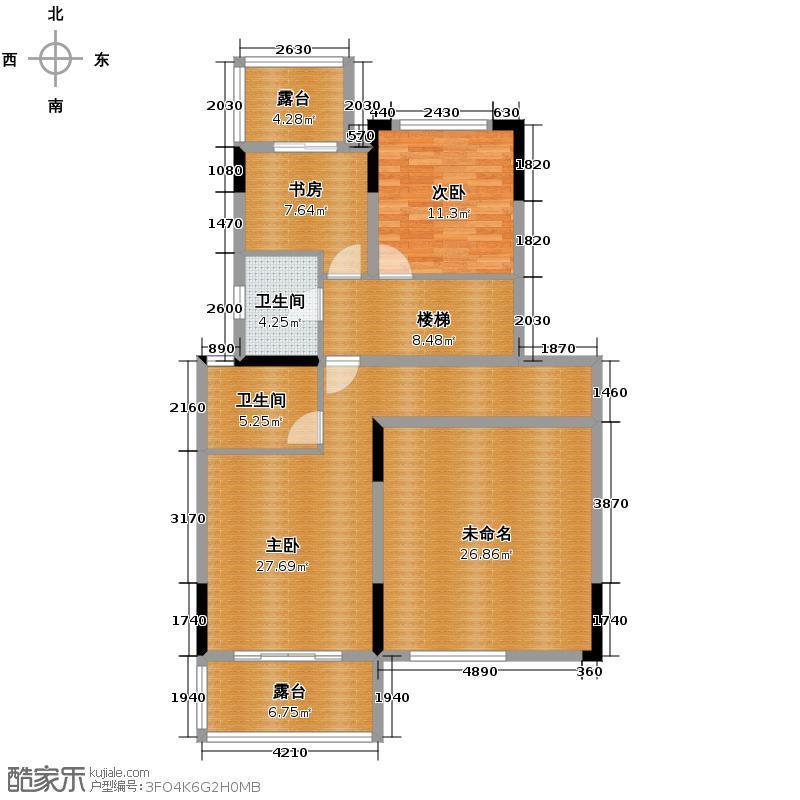 金地湖城大境217.35㎡叠加别墅下户中户二层户型10室