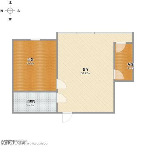 好民居康泰嘉园1室1厅1卫1厨73.00㎡户型图