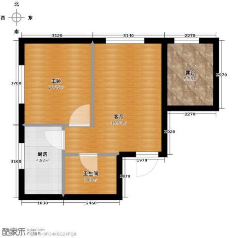 瑞家景峰1室1厅1卫0厨46.00㎡户型图
