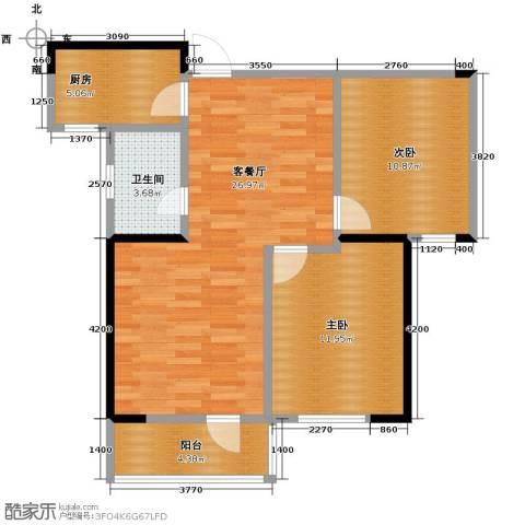 同方广场2室2厅1卫0厨90.00㎡户型图