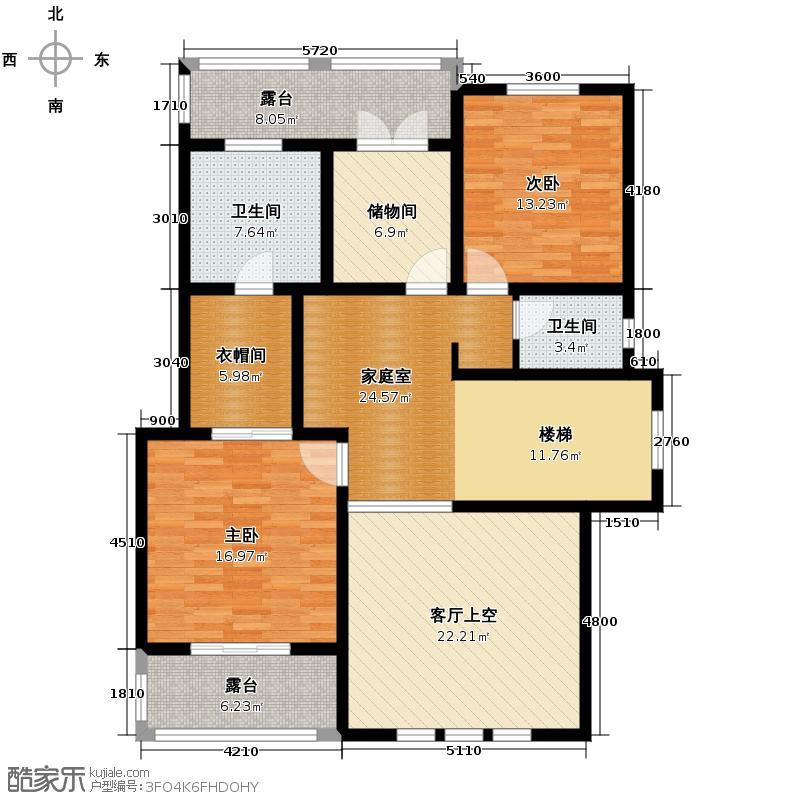拉斐水岸97.00㎡11期A10二层户型10室