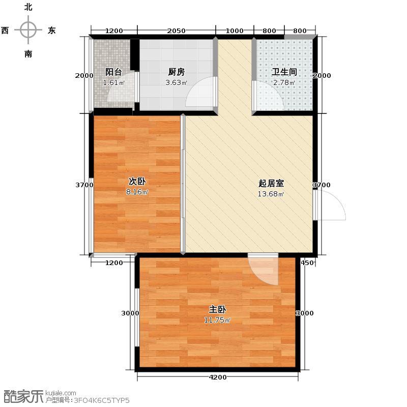 悦山国际48.41㎡户型10室