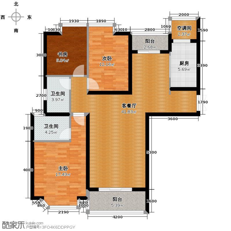 亚东观云国际公寓140.00㎡B1户型10室