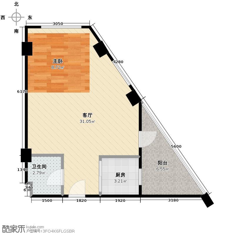 金坐标47.50㎡1-3&nbsp&nbspG户型1厅1卫1厨