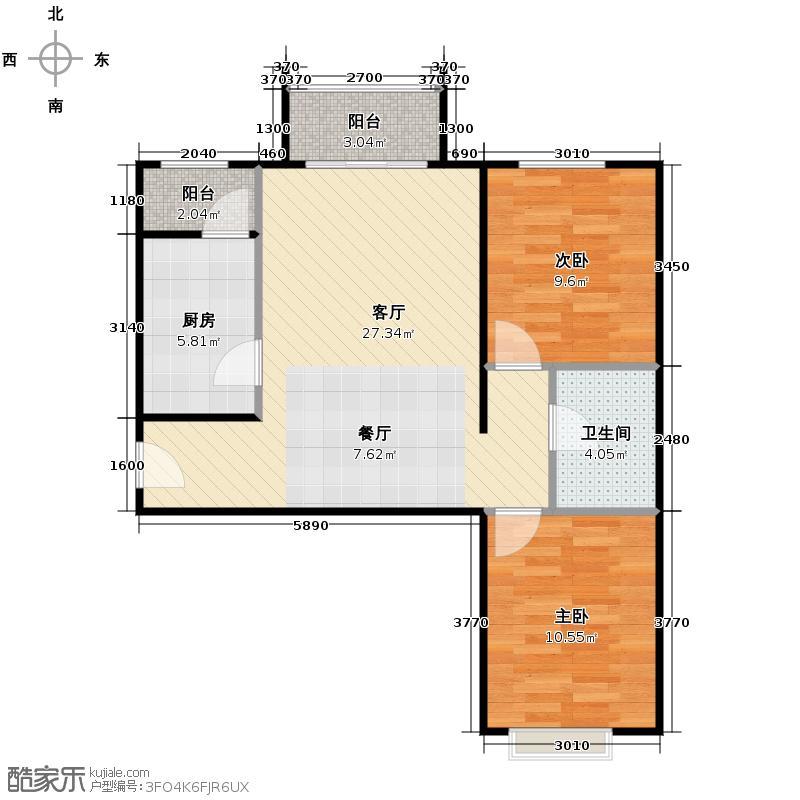 4号线孔雀大卫城67.62㎡1-8&nbsp&nbsp二期G4已售完户型2室1厅1卫1厨