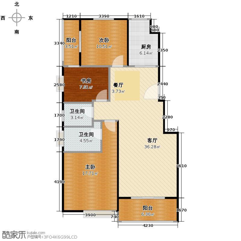 航天常青苑123.09㎡2-38&nbsp&nbspA1户型3室1厅2卫1厨