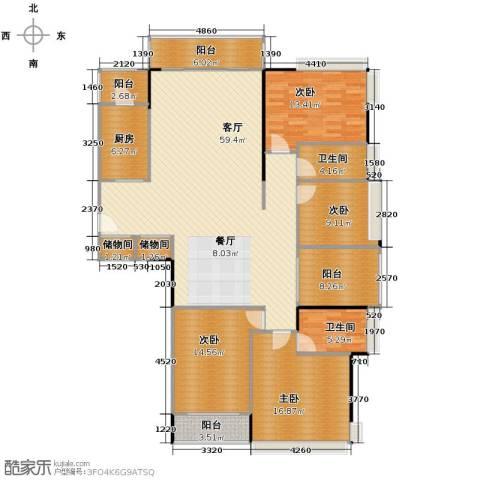 金地格林4室1厅2卫1厨204.00㎡户型图