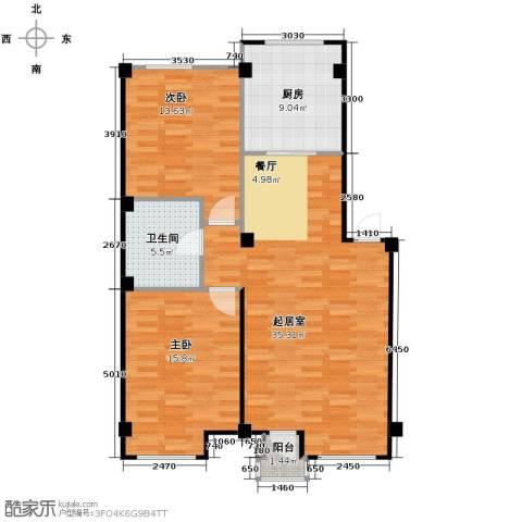 万科兰乔圣菲2室0厅1卫1厨109.00㎡户型图