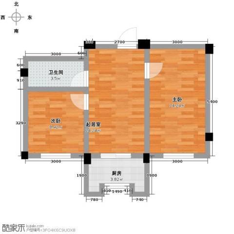 碧桂园凤凰城2室1厅1卫0厨59.00㎡户型图