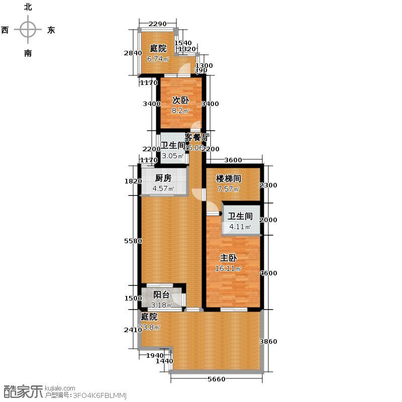 世茂・萨拉曼卡118.23㎡叠院下叠C1一层户型10室