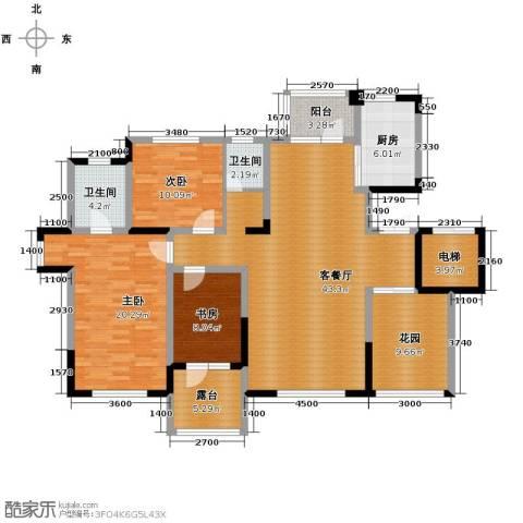 九洲湾景汇3室1厅2卫1厨139.00㎡户型图