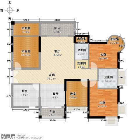 香缤雅苑1室0厅2卫1厨118.00㎡户型图