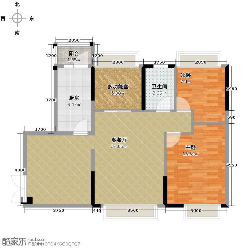 宏远御庭山88.00㎡1-3栋0户型3室2厅2卫