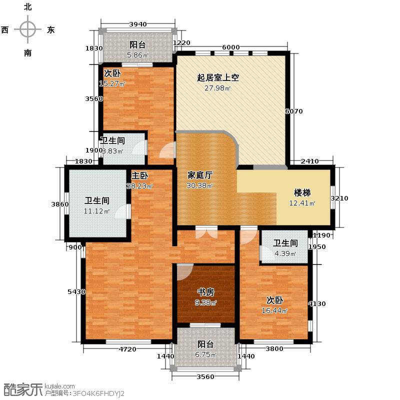 拉斐水岸150.00㎡11期A13-1二层户型10室