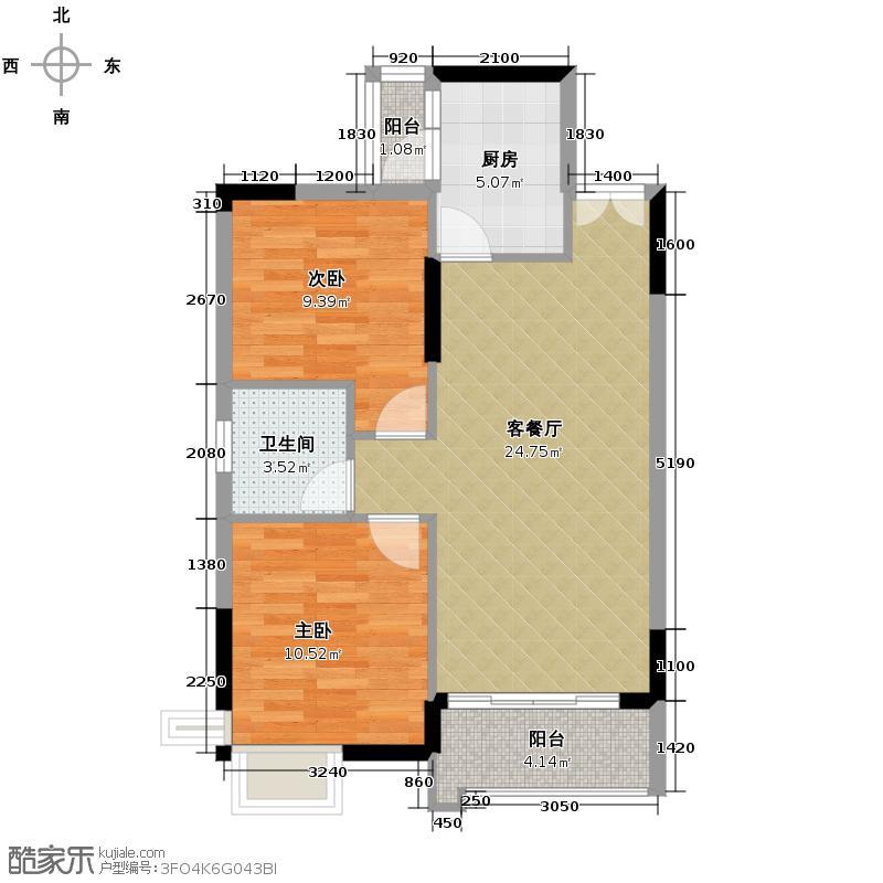 鼎峰尚境82.00㎡6栋户型3室2厅1卫