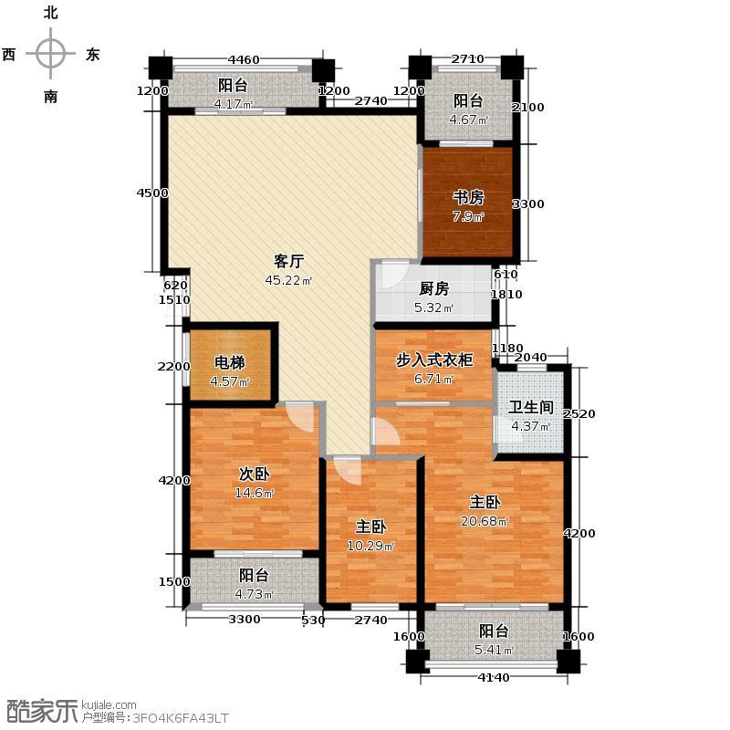 融侨观邸155.04㎡户型4室1厅1卫1厨