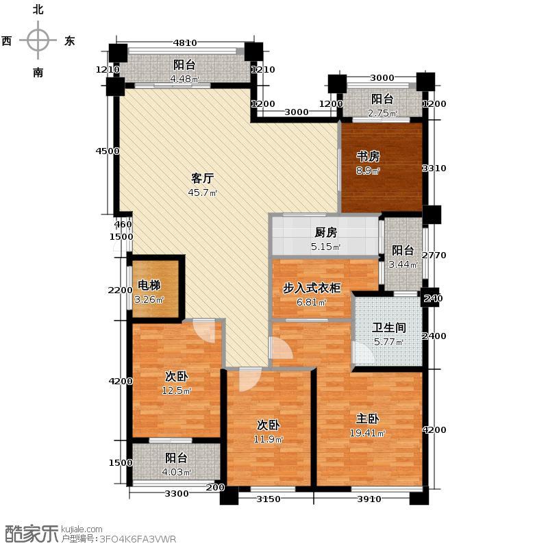 融侨观邸149.76㎡户型4室1厅1卫1厨