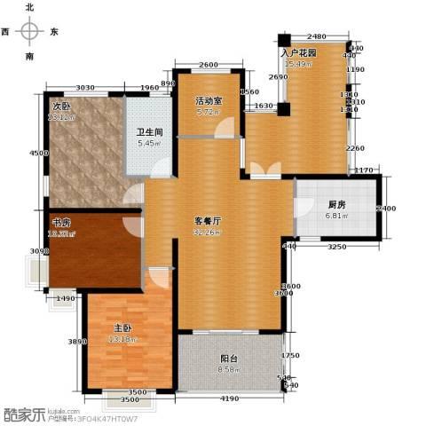 滨湖世纪城3室1厅1卫1厨154.00㎡户型图