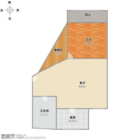 梅陇十一村1室1厅1卫1厨257.00㎡户型图