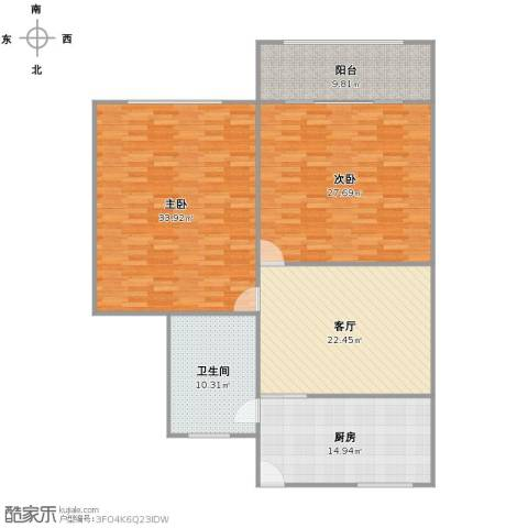 呼玛五村2室1厅1卫1厨125.67㎡户型图