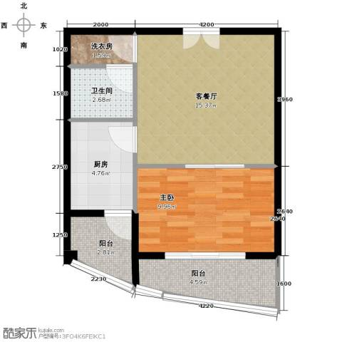 上上城青年社区二期1室1厅1卫1厨130.00㎡户型图