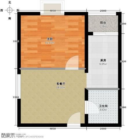 上上城青年社区二期1室1厅1卫0厨52.00㎡户型图