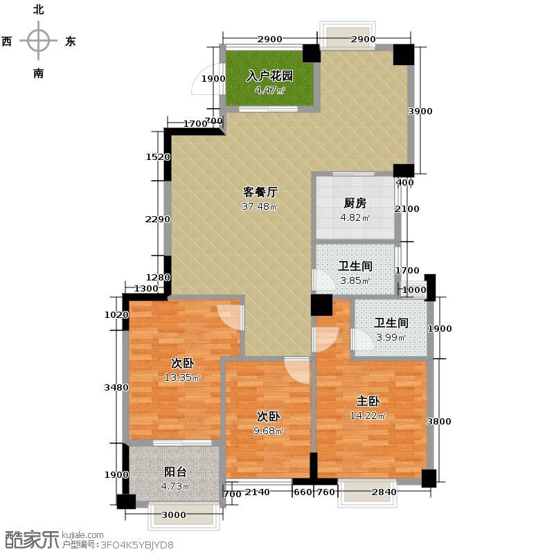 正祥特区・美居126.18㎡2011-5-11户型3室2厅2卫