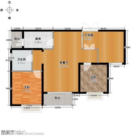 滨湖世纪城2室1厅1卫1厨108.00㎡户型图