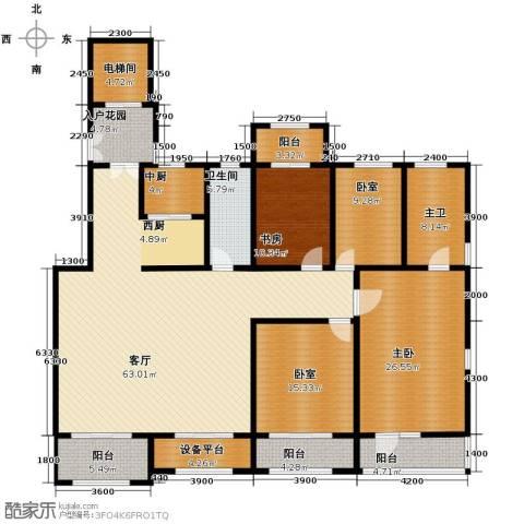 廊坊孔雀城4室2厅2卫0厨198.00㎡户型图