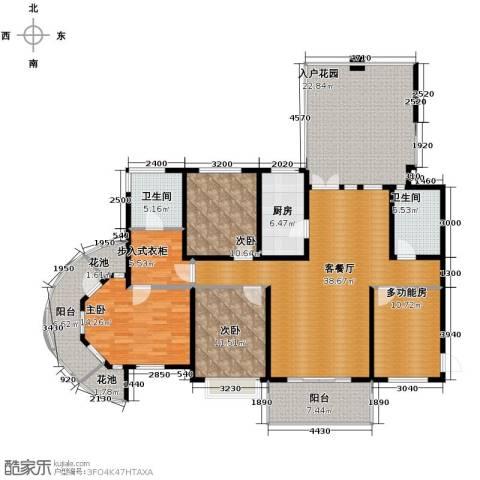 滨湖世纪城3室1厅2卫1厨208.00㎡户型图